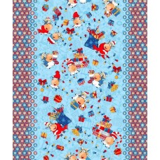 Wafer kitchen towel Cows & Presents TM Emily blue 50x63 cm