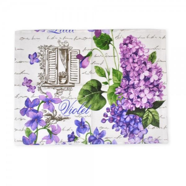 Полотенце вафельное кухонное Lilac ТМ Emily 40х50 см