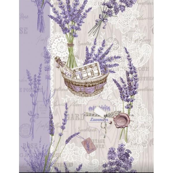 Полотенце вафельное кухонное Lavender ТМ Emily 50х63 см