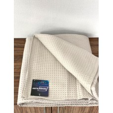 Bedspread cotton SoundSleep Caprise light grey 150x200 cm