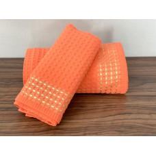Полотенце вафельное кухонное SoundSleep Gem абрикосовое 40х70 см