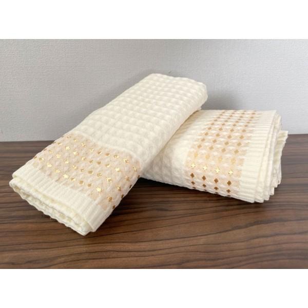 Полотенце вафельное кухонное SoundSleep Gem молочное 40х70 см  230г