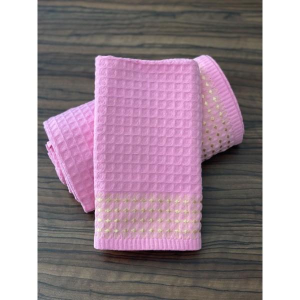 Полотенце вафельное кухонное SoundSleep Gem розовое 40х70 см  230г