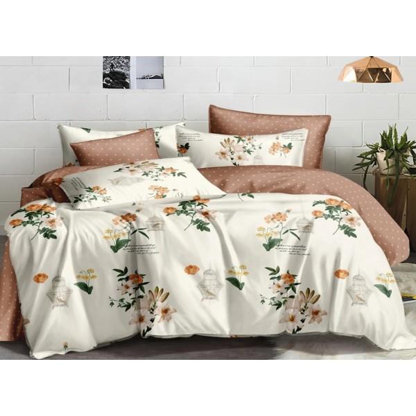 Комплект постельного белья SoundSleep Birds&Flowers сатин семейный