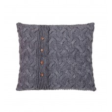 Knitted pillowcase SoundSleep Varanasi light gray